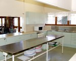 The kitchen is a fantastic workspace, ideal for catering your meeting or group class.